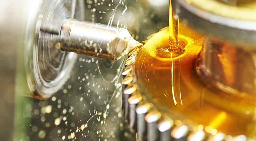 metalworking industry. tooth gear cogwheel machining by cutting