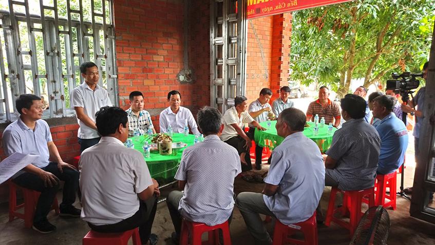 ông Nguyễn Thành Thông - Chủ tịch UBND xã Long Thuận phát biểu tại buổi lễ